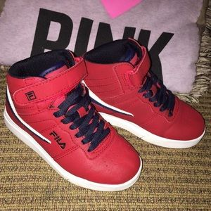 Fila Vulc 13 Red High Top Shoes Kids